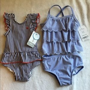 2 Carter's 6 months Baby Bathing Suits